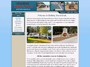 Holiday Travel Park Website Thumbnail